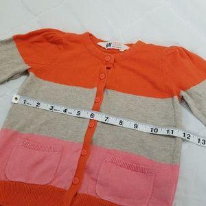 H&M Shirts & Tops - H&M Toddler Size 2-4Y Cardigan Orange Pink Stripe